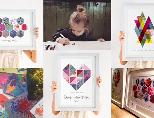 Kids Artwork Display Print Ideas