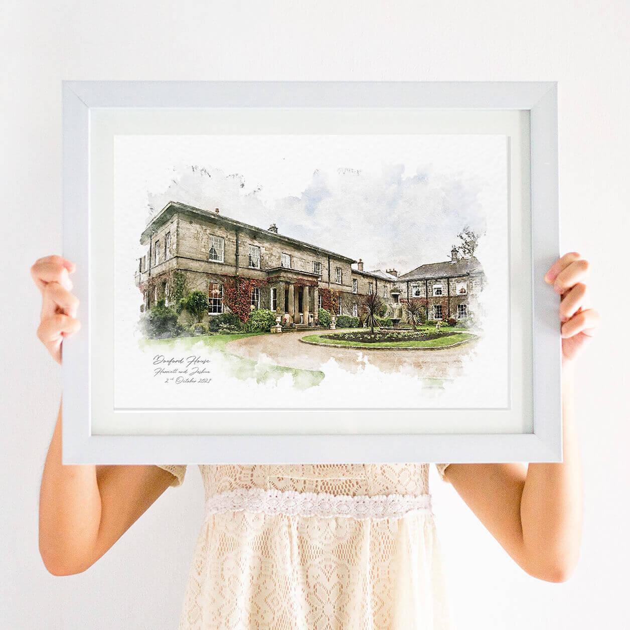 venue portrait print
