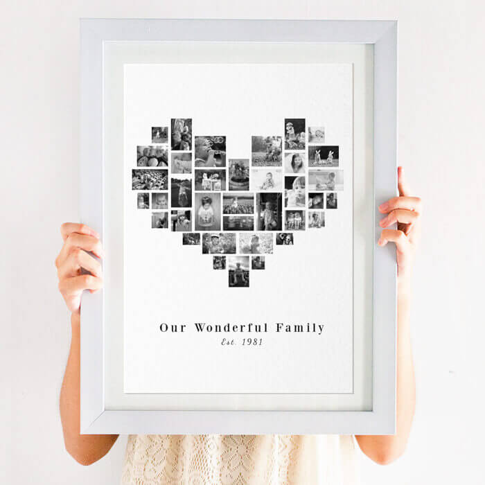Personalised Heart Family Photo Print