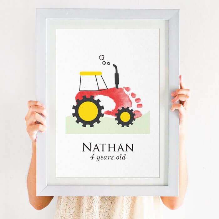 Personalised Tractor Footprint Print