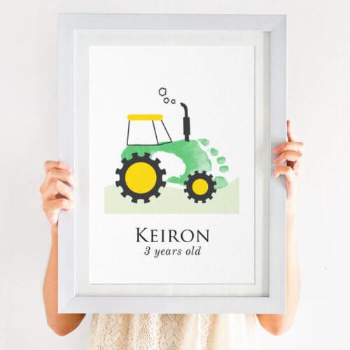 Boys Tractor print