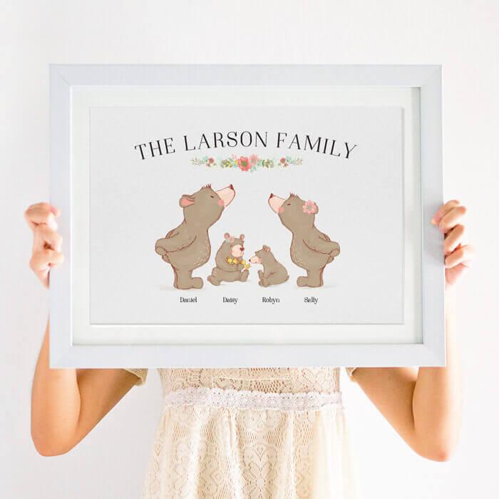 family bear print