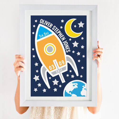 personalised space print