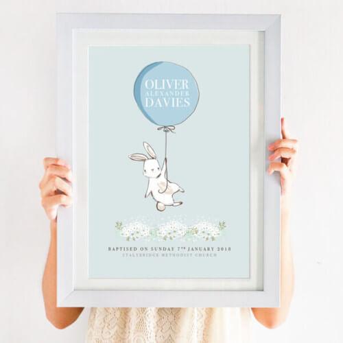 Personalised Baptism Balloon Print