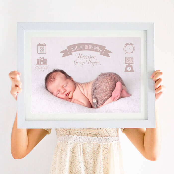 Personalised Birth Stats Photo Print