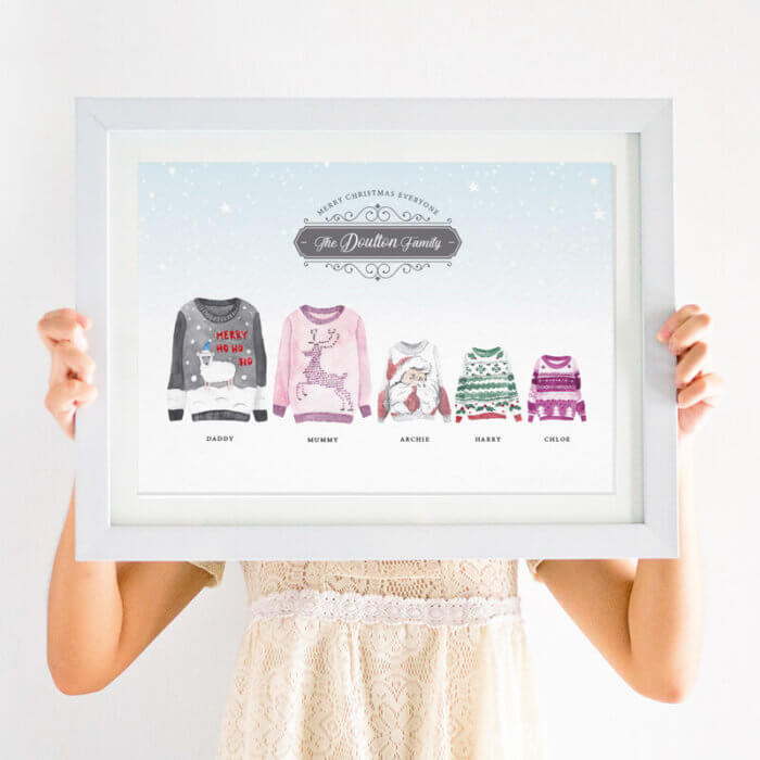 Personalised Christmas Jumper Family Print