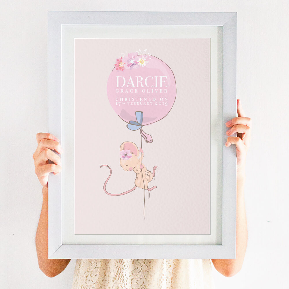 mouse christening print