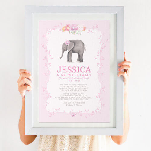 Personalised For Goddaughter Christening Print