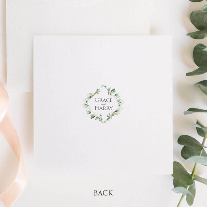 green foliage thank you card