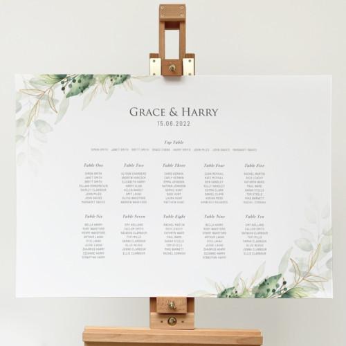 green foliage Table Plan