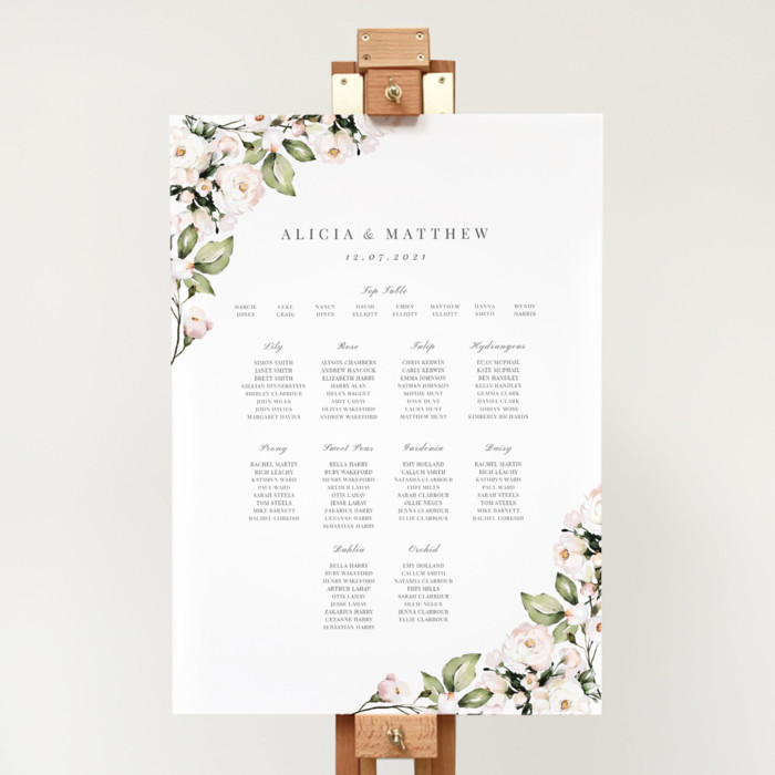 Foliage and Blush Table Plan portrait