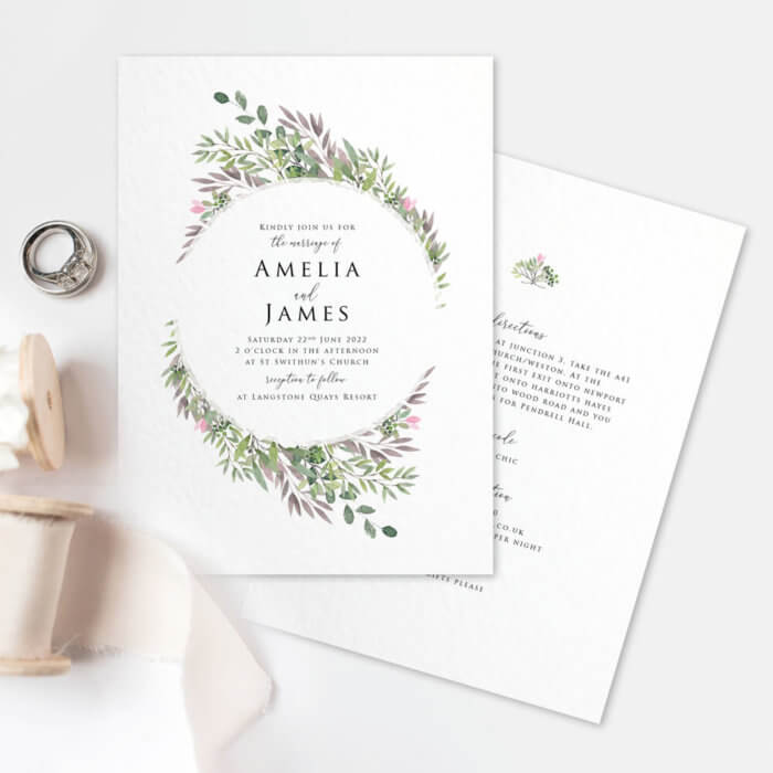Spring Foliage Wedding Invitations