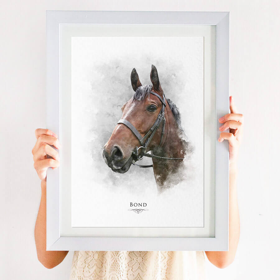 Horse pet portrait print