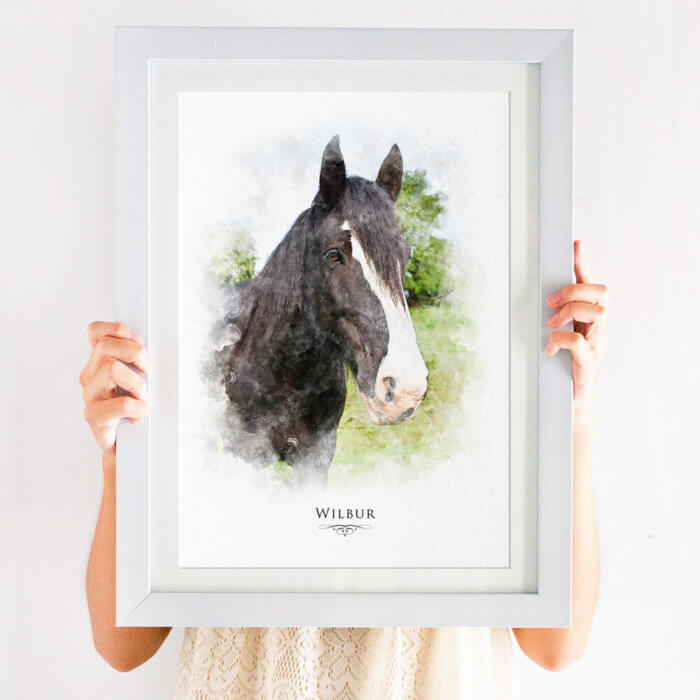 Personalised watercolour pet portrait print