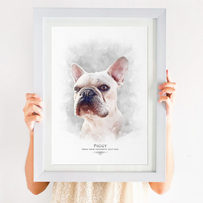 french bulldog pet portrait print