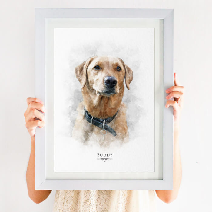 Pet Portrait Dog print