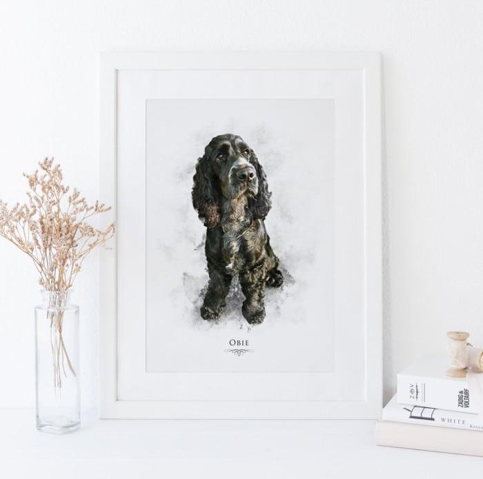 Watercolour Pet Portrait Print