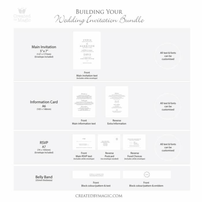Wedding Invitation Bundle Graphic