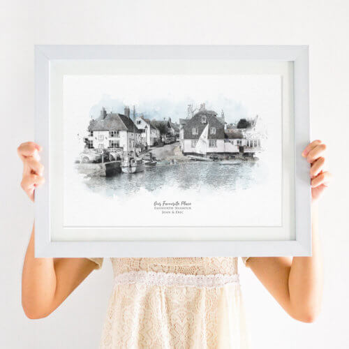 Personalised Our Favourite Place Watercolour Illustration Print