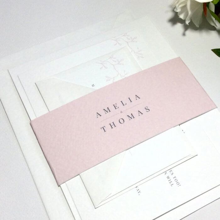 Classic Elegant Wedding Invitations (variety of colours)