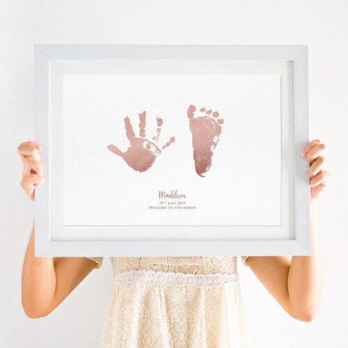 personalised baby footprint handprint foil print