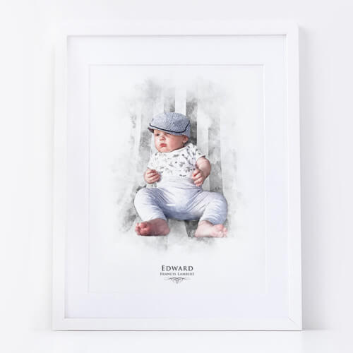 Personalised Child Portrait Print