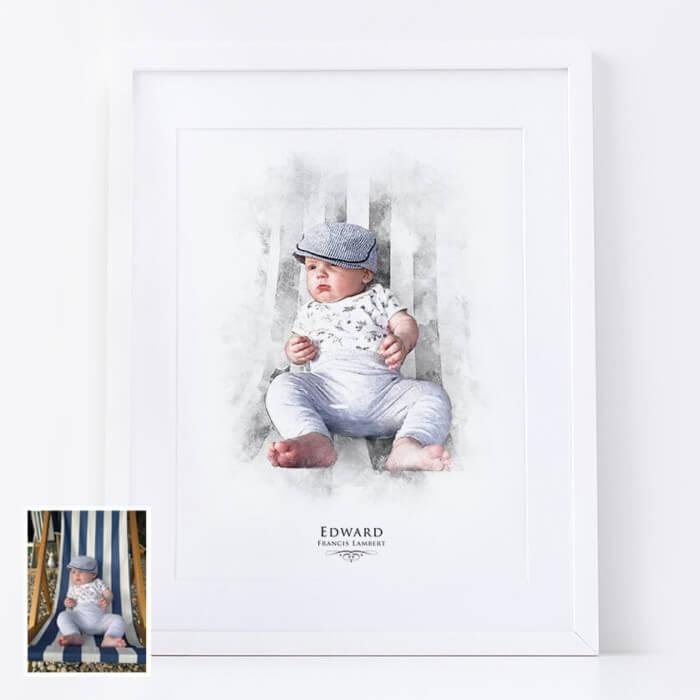 Personalised Child Portrait Print
