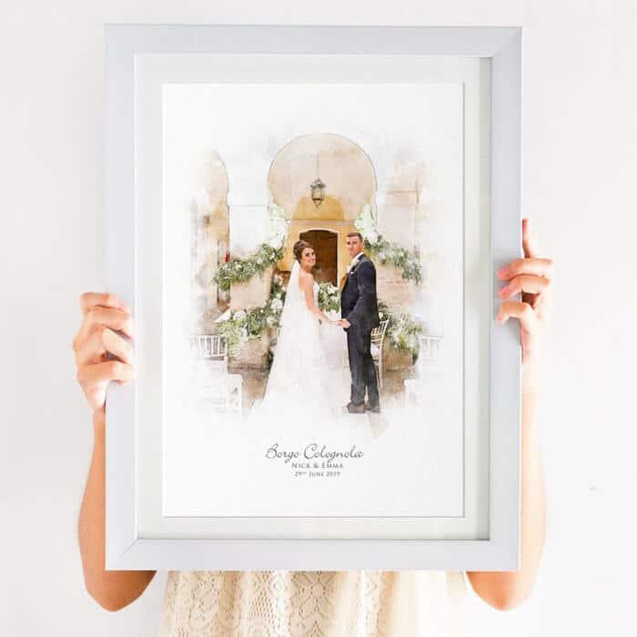 couple portrait illustration print