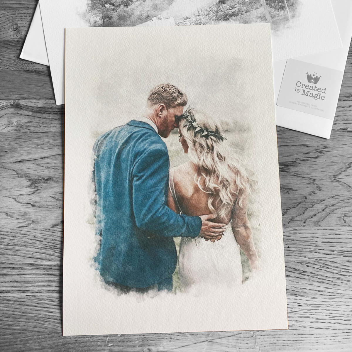 wedding portrait illustration print