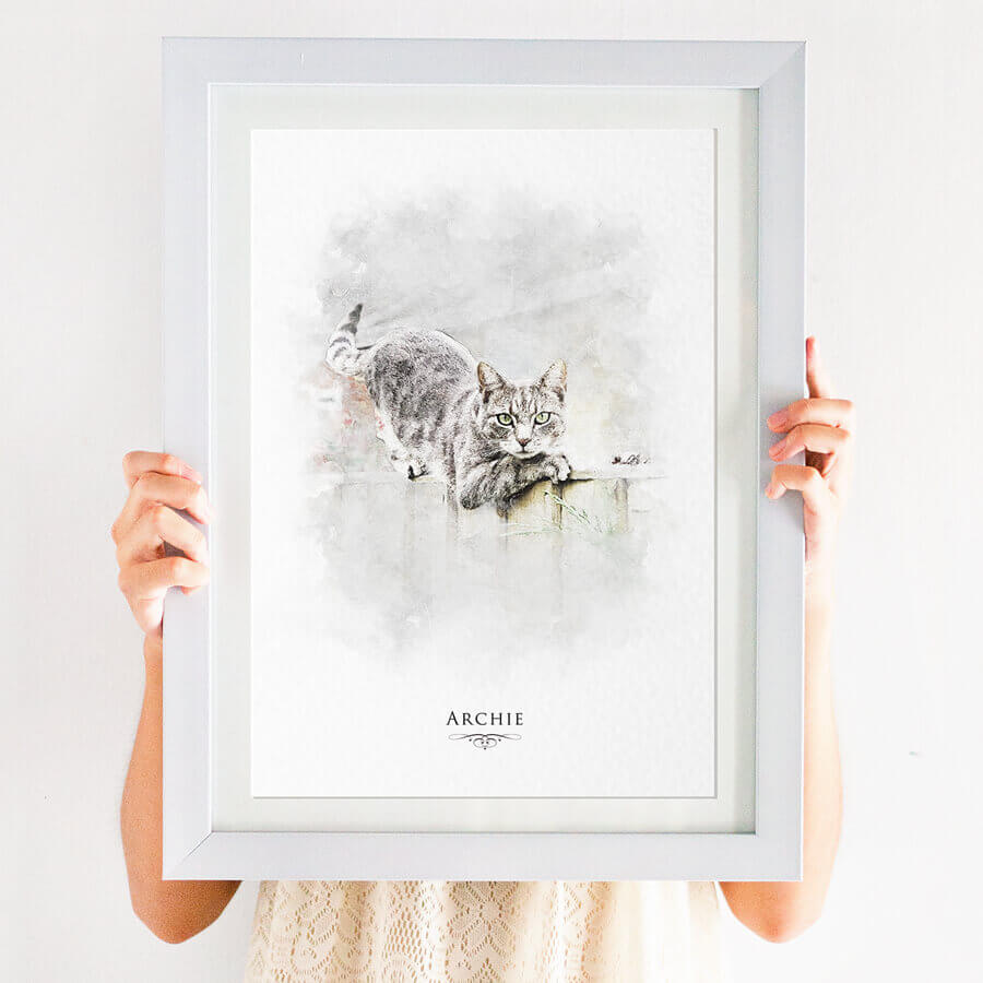 cat portrait print