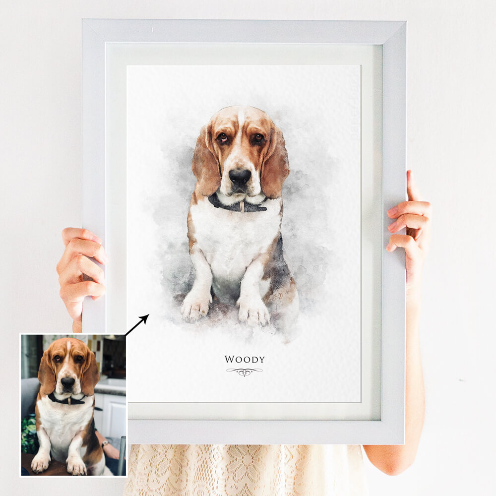 pet dog portrait print
