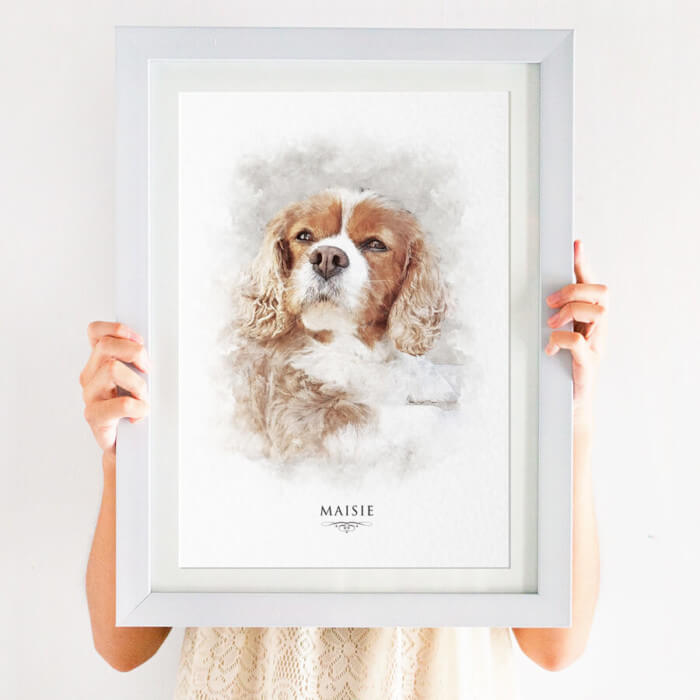 Pet portrait print