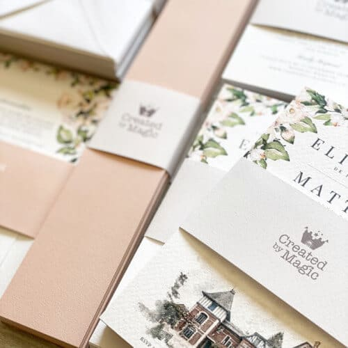 blush wedding invitations uk