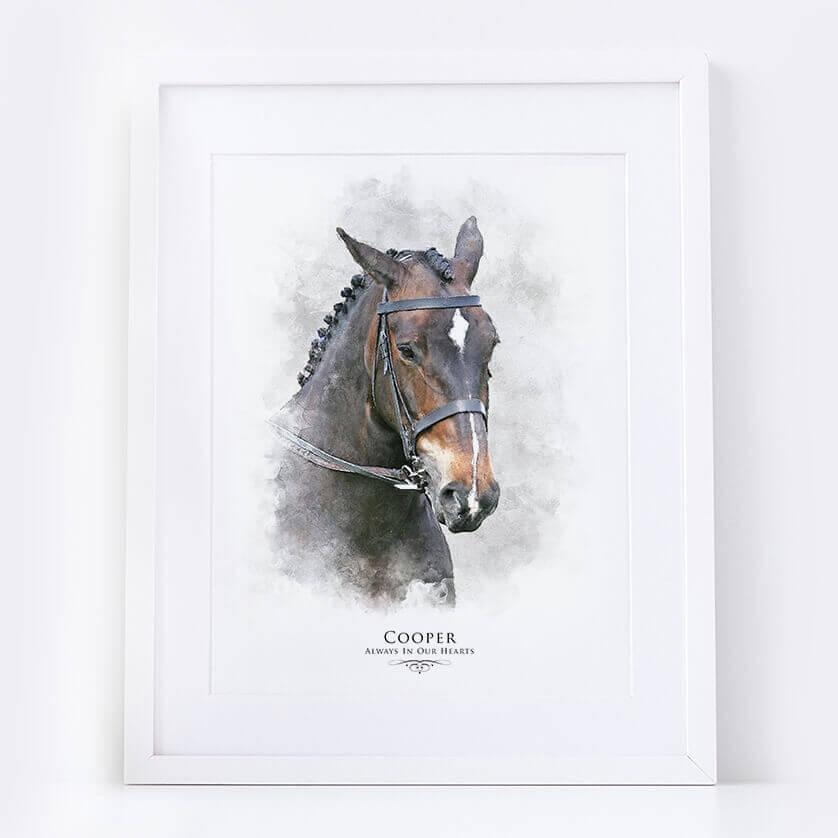 Personalised Horse Portrait Illustration Print
