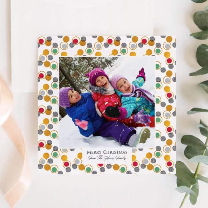 Personalised Christmas Photo Card Set