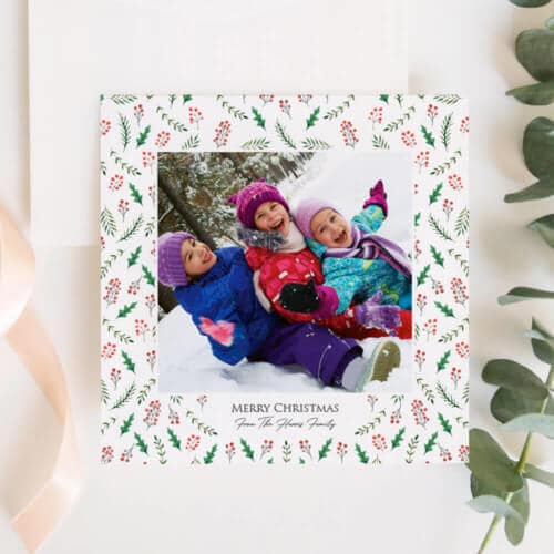 Personalised photo Christmas cards is sure to help you address friends, family members and loved ones in style this festive season.