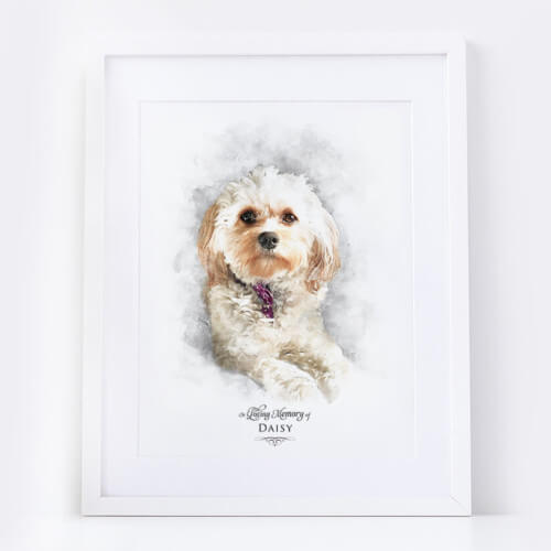 Pet Memorial Portrait In loving Memory Remembrance Keepsake Print