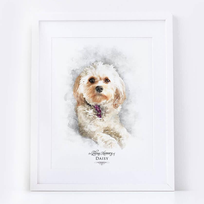 Pet Memorial Portrait In loving Memory Remembrance Keepsake Print