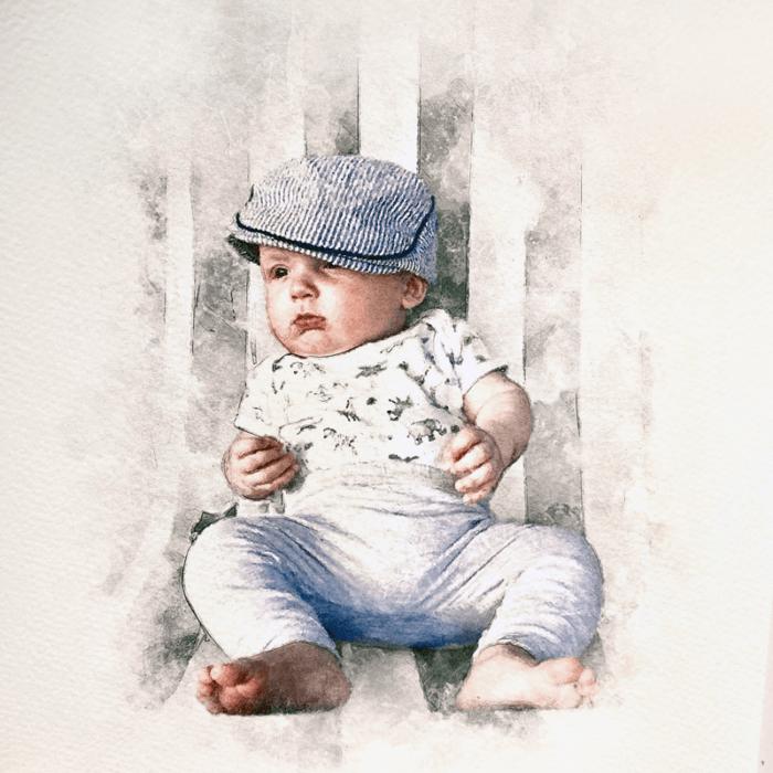 child portrait print