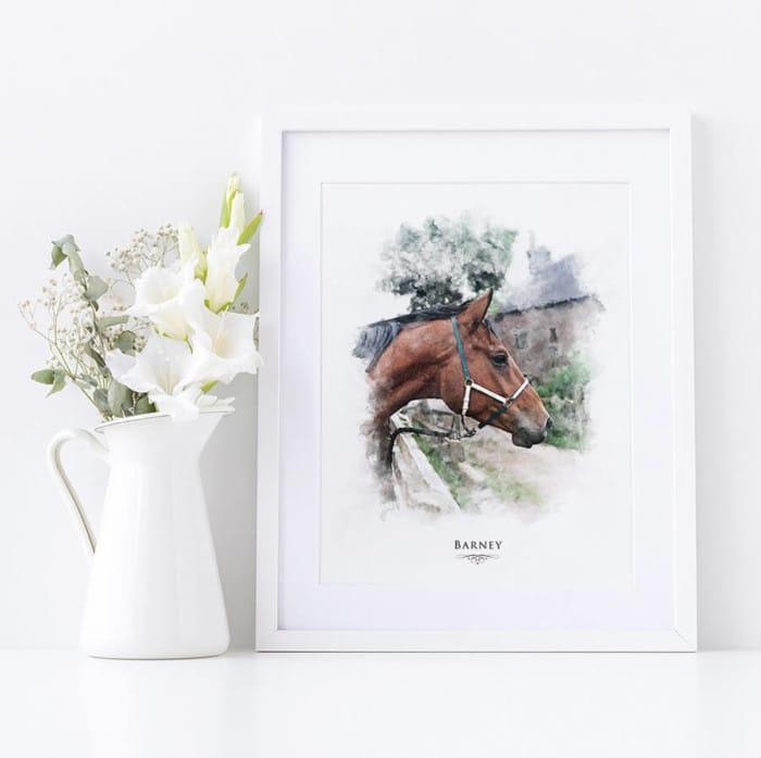 EQUESTRIAN watercolour horse print
