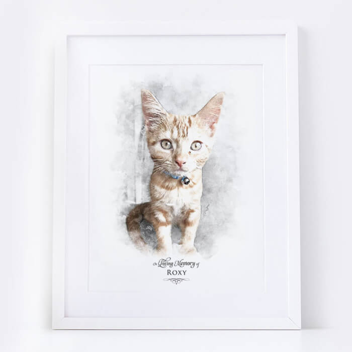 loss of a cat portrait keepsake