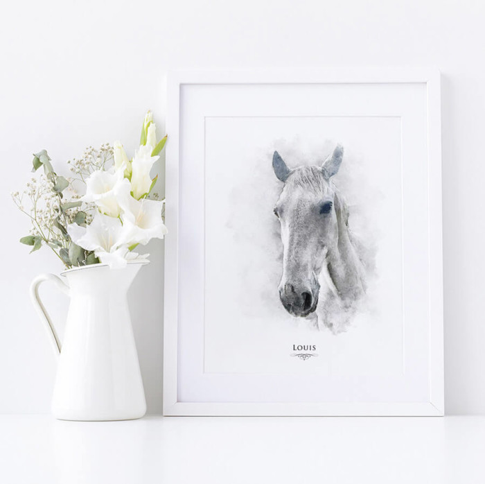 watercolour horse print