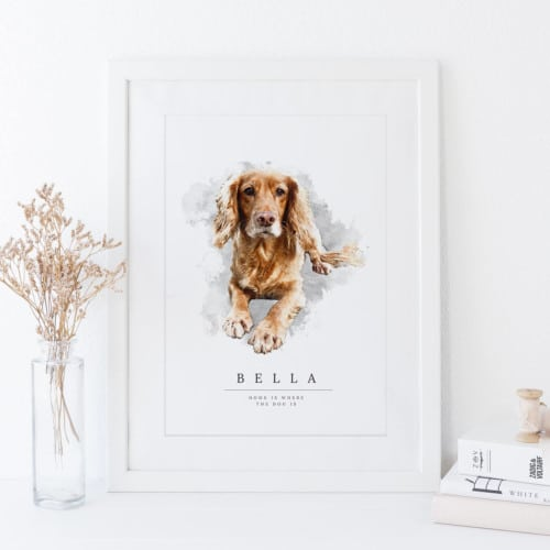 Custom Dog Portrait Print