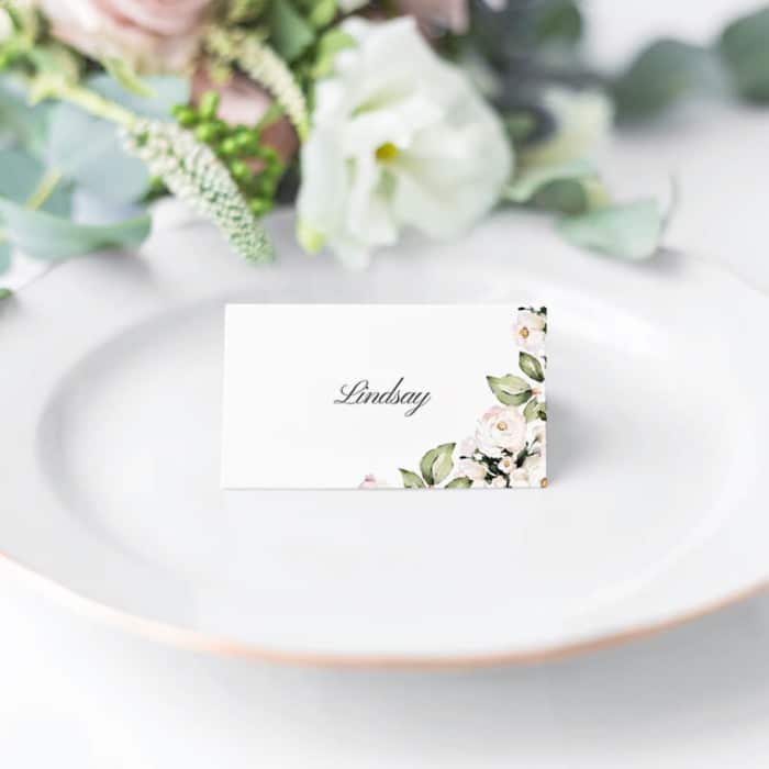 Foliage and Blush Place Name Cards