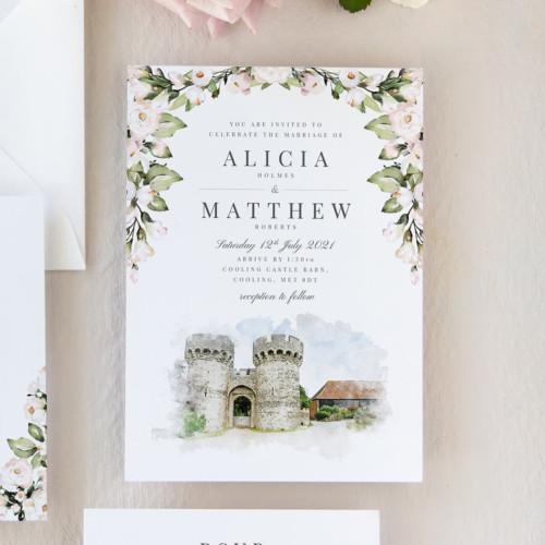 Foliage and Blush Wedding Invitations
