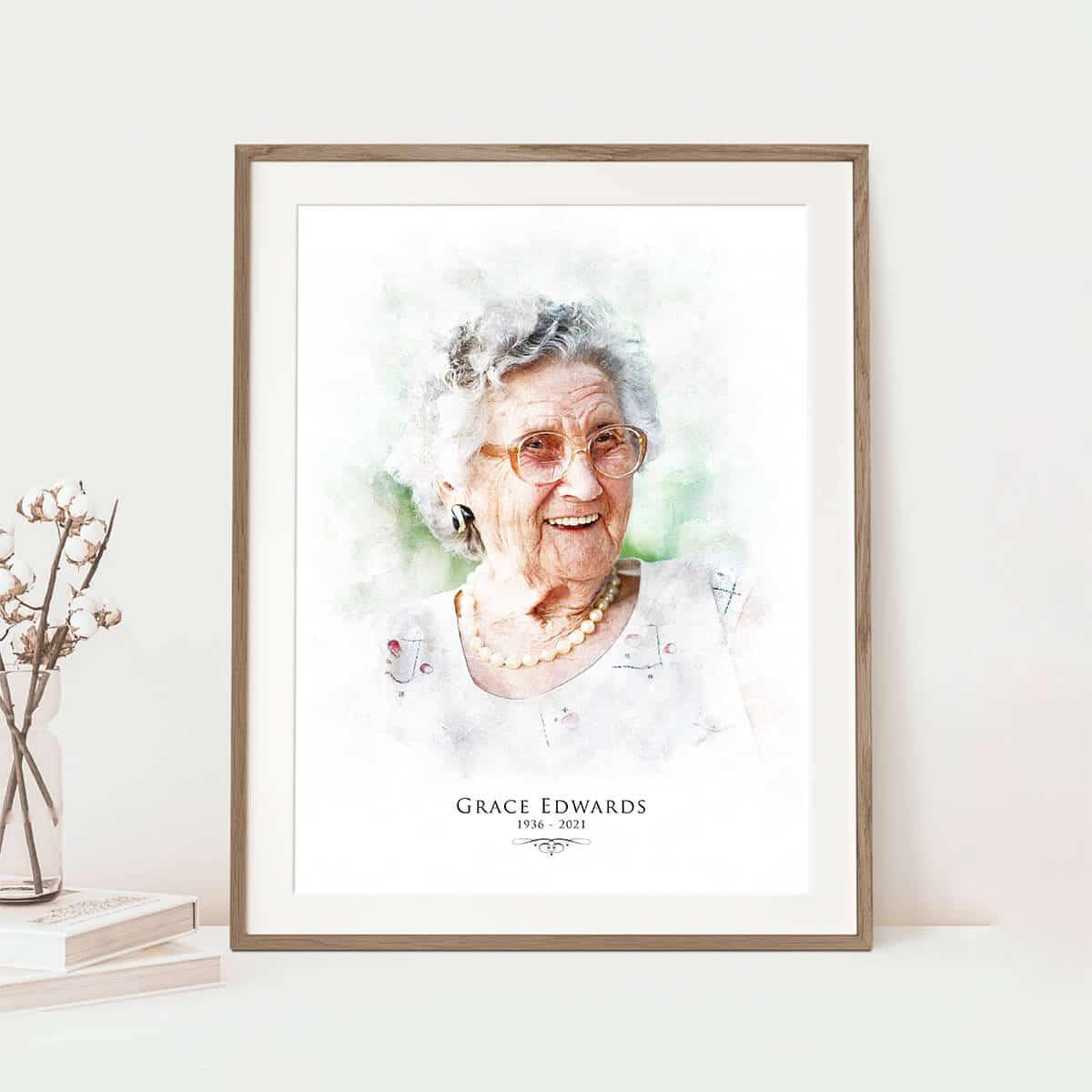 In Loving Memory Portrait Memorial