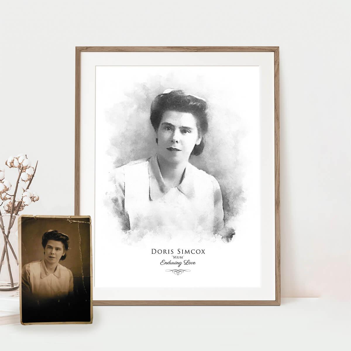 funeral memorial portrait