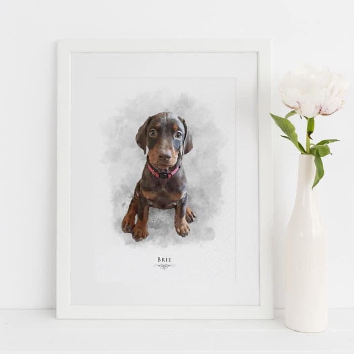Pet Portraits, Personalised Family Prints