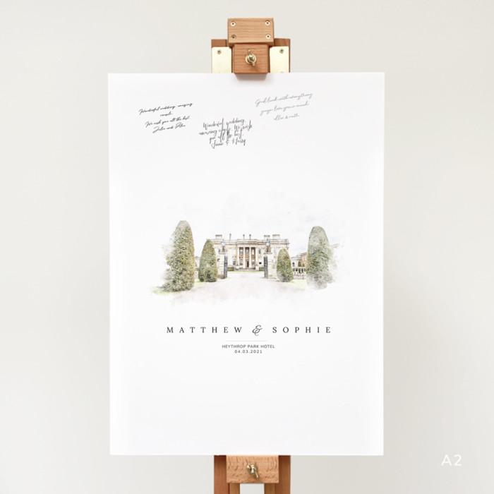 a2 portrait wedding guest book alternative